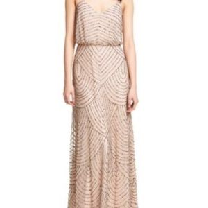 Beautiful beaded Adrianna Papell long dress